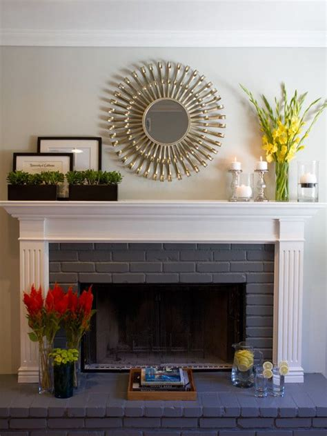 Painted Brick Fireplace Ideas by Painted Brick Fireplace Design Pictures Remodel Decor
