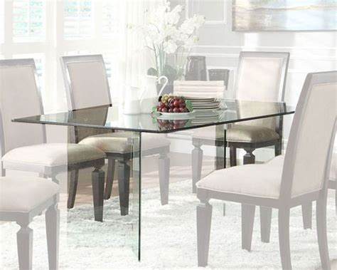 dining room table glass homelegance rectangle glass dining table alouette el 17813