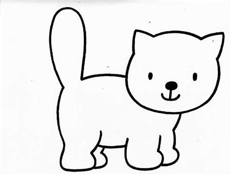 cat easy cat coloring pages coloringsuite