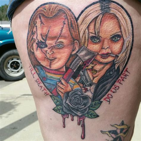 bride of chucky tattoo chucky and i custom designed my