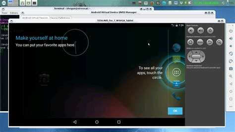 android sdk linux android sdk emulator android pentru linux log in done