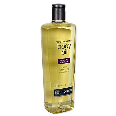 light sesame oil for skin neutrogena 174 16 oz original formula body oil in light