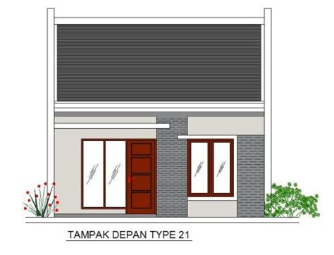 desain interior dan gambar denah rumah minimalis tipe 21