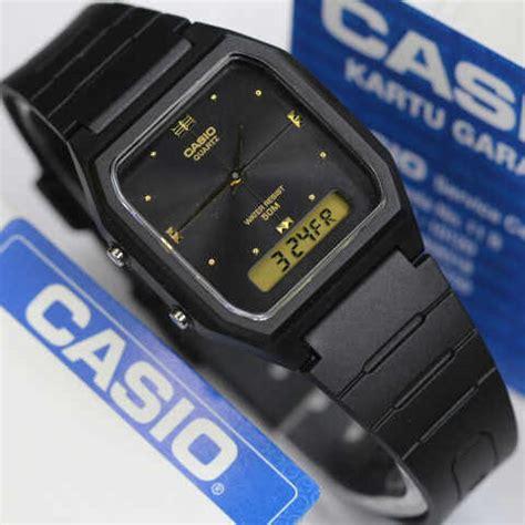 Jam Tangan Casio Aw 48he 7a Pria Wanita Black White Original jam tangan casio kotak aw 48he analog digital original