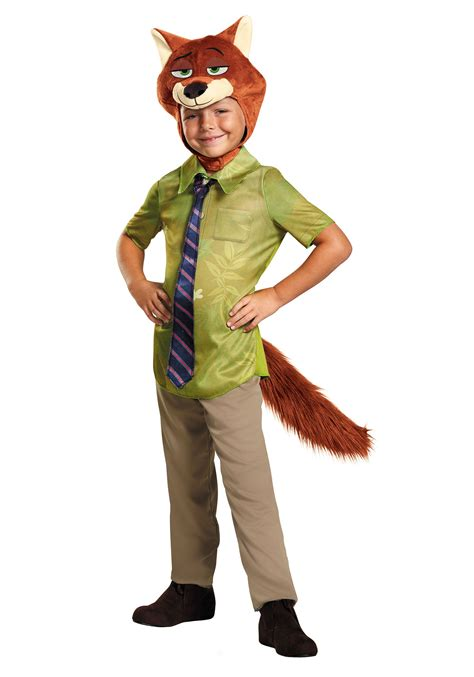 halloween costumes zootopia nick wilde boys costume