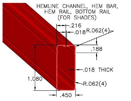 Hem Channel hem bar bottom bar hem line channels johnson brothers metal forming co