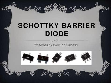 schottky diode in ads schottky barrier diode