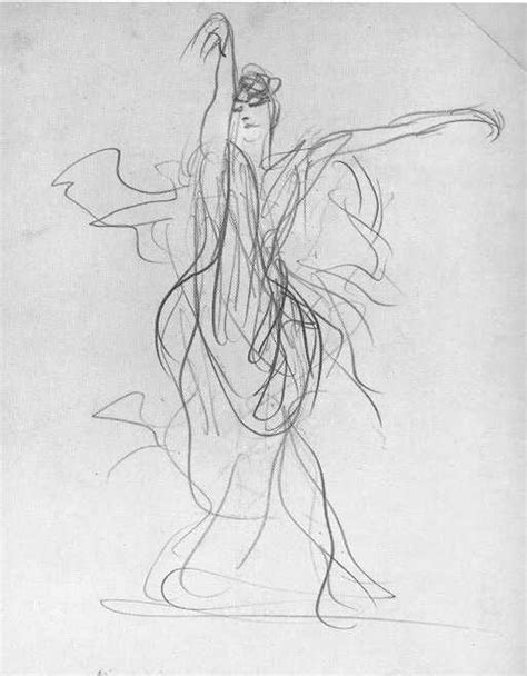 flamenco drawings by john singer sargent dancing lines