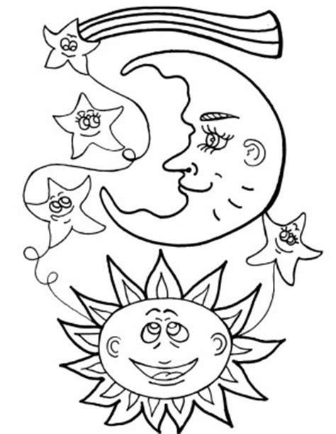 imagenes de luna sol y estrellas para colorear luna para colorear pintar e imprimir