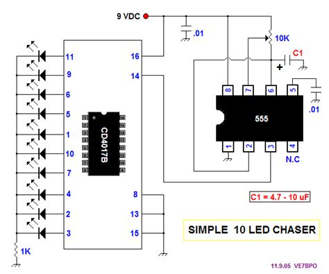 led driver cd4017be circuits youtube cd4017 decade counter easyelectronyx