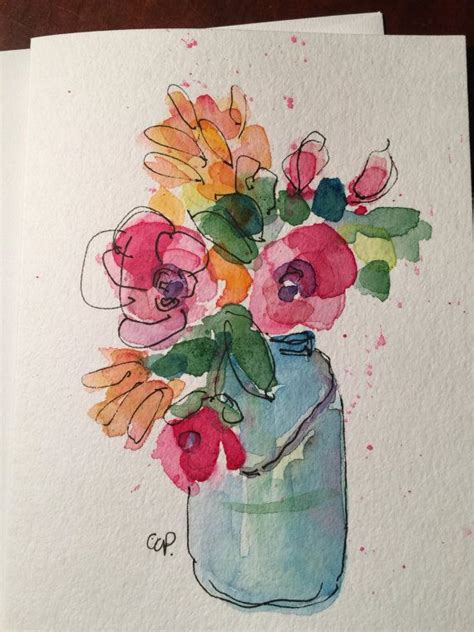 25 best ideas about watercolor flowers on flower watercolor draw flowers and