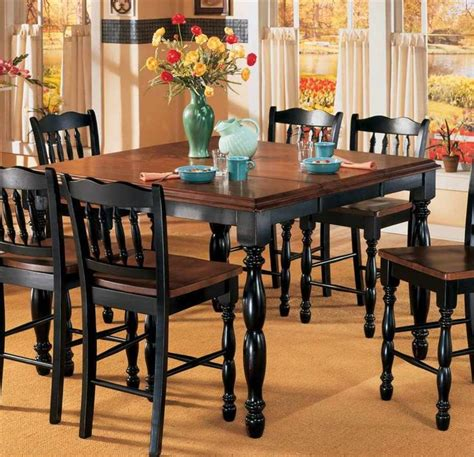 butterfly leaf counter height table black cherry stain