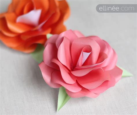 How To Make Easy Paper Roses - sparkle paper roses template