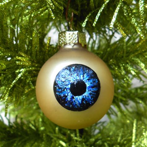 blue eye ornament weird christmas decoration by rainbeauxcraft