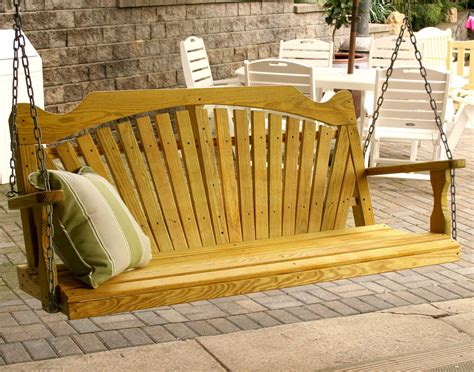 pourch swing treated pine fanback porch swing