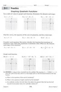 graphing quadratic functions worksheets thedesigngrid