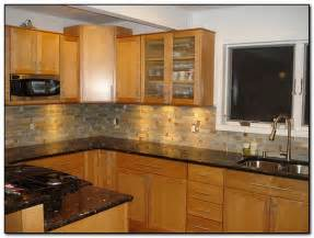 Oak cabinets with granite countertops home and cabinet reviews