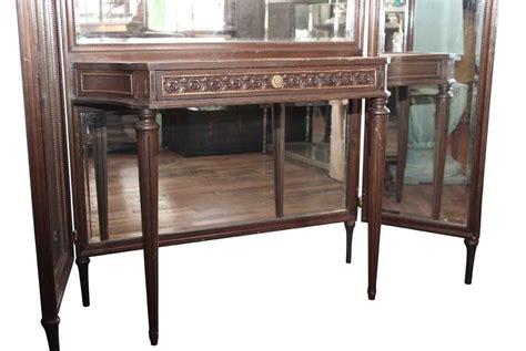 Wood Vanity Table Tri Fold Mirror Wood Vanity Table Olde Things