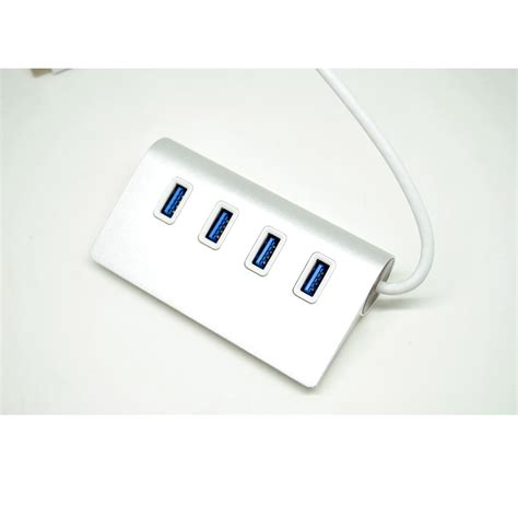 Usb 3 0 Hub 4 Port Adapter White metal usb type c to usb 3 0 hub adapter 4 port white