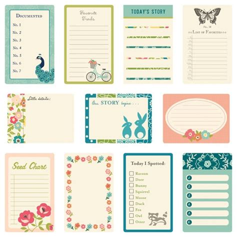 printable travel journal cards october afternoon monday challenge journaling cards