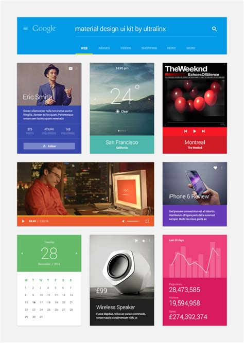 download layout majalah psd material design ui kit psd free download vector images