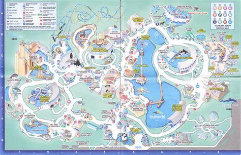 seaworld orlando map seaworld of orlando 2008 park map