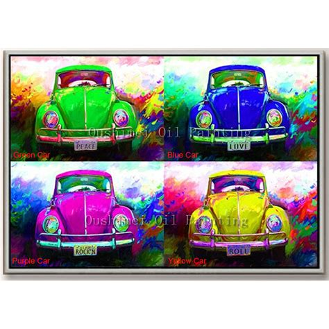 aliexpress buy handmade painting color car paintings modern abstract picture wall