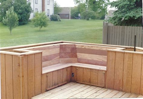 patio bench seating guide deck bench planter diy simple woodworking