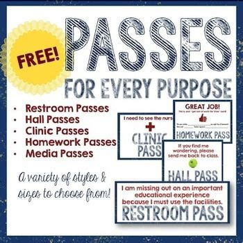 printable restroom tickets school passes printable pictures to pin on pinterest