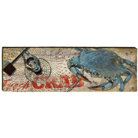 Blue Crab Wall Decor by Blue Crab Wood Wall