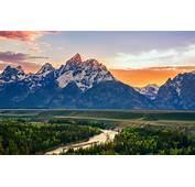 Wallpaper Summer Mountains River USA Wyoming Snake