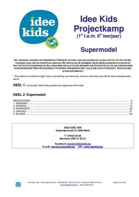 Minor Eventmanagement Draaiboek Bcc draaiboek supermodel projectk 2014