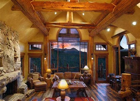 log home interior design projects