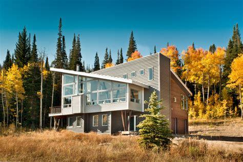 Contemporary Mountain Cabin Modern Mountain Cabin Contemporary Exterior Denver