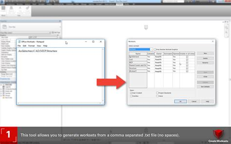 revit tutorial worksets free create worksets add in import worksets from a text