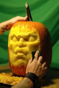 dj pump a record spinning 3d carved pumpkin sculpture
