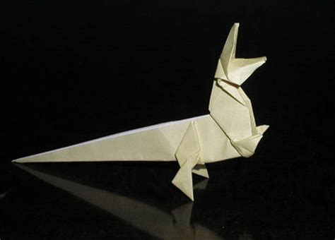 Origami T - step by step origami t rex free tutorial