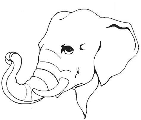 Printable Animal Heads | animal elephant head printable coloring sheet