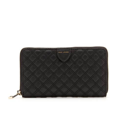 Marc Quilted Wallet by Marc By Marc Hudson Quilted Leather Wallet In Black