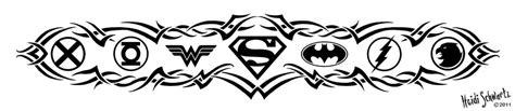 League Floow White tattoos on green lanterns batman and