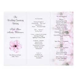 tri fold wedding program templates pink hibiscus tri fold wedding program templates letterhead zazzle