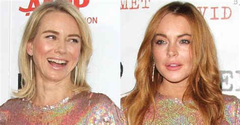 Watts Lindsay Lohan by Who Looks Best In Givenchy S Embellished Dress Lindsay Or