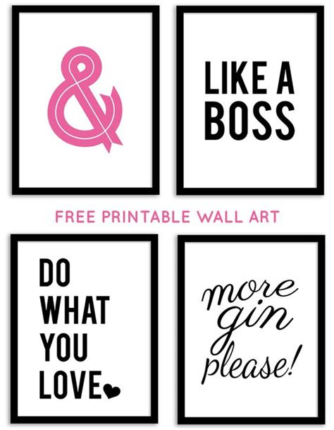 free printable wall art sayings free printable wall art from chicfetti free printables