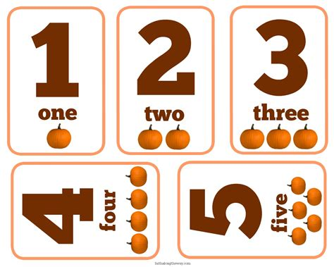 printable pumpkin number cards 7 fall educational activities for preschoolers