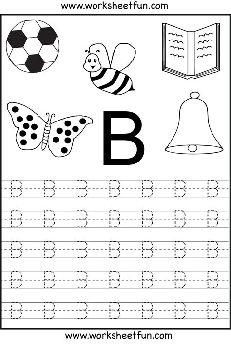 Alphabet letter b worksheets letter b writing worksheet letter