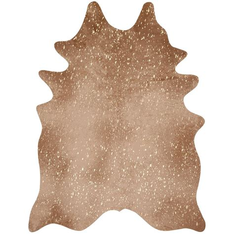 cowhide rug overstock golden sand faux cowhide rug 6 x 8 overstock