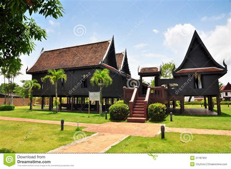 house style thai house traditional style stock image image 21187931