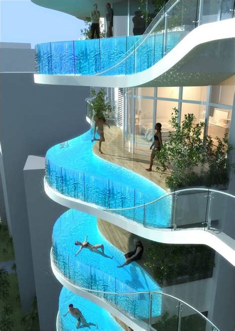 amazing pools slip n fly wildest water slide ever incredible video plus skyscraper swimming pools