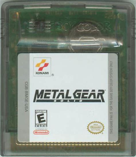 metal gear solid gameboy color metal gear solid 2000 boy color box cover