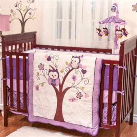 Purple Baby Bedding Crib Sets Home Furniture Design Purple Owl Crib Bedding